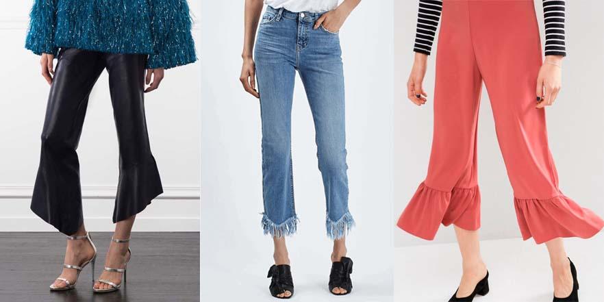 Los pantalones de moda: volantes y flecos