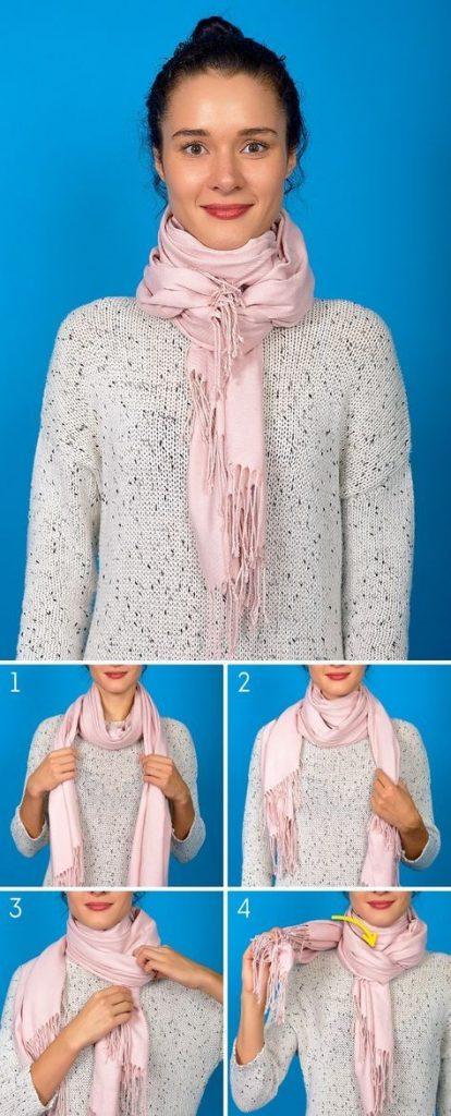 usar bufanda corta