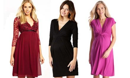 Los más lindos vestidos de fiesta para embarazadas