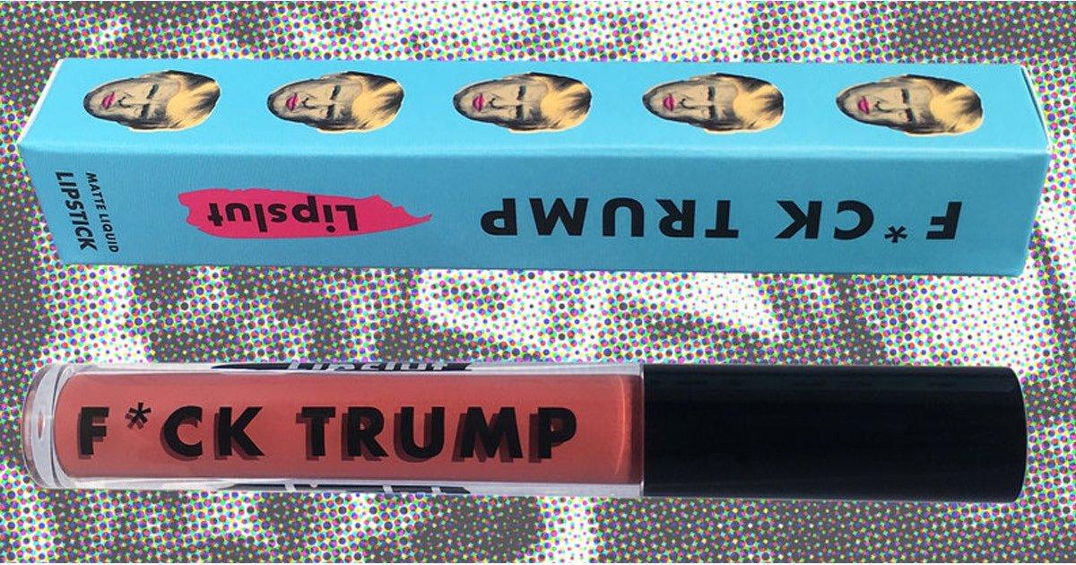 """La firma LipSlut quiere ayudar a los migrantes en Estados Unidos y lanza su labial """"F*ck Trump"""""""