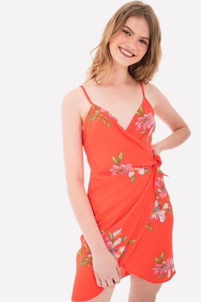 vestido naranja de shasa