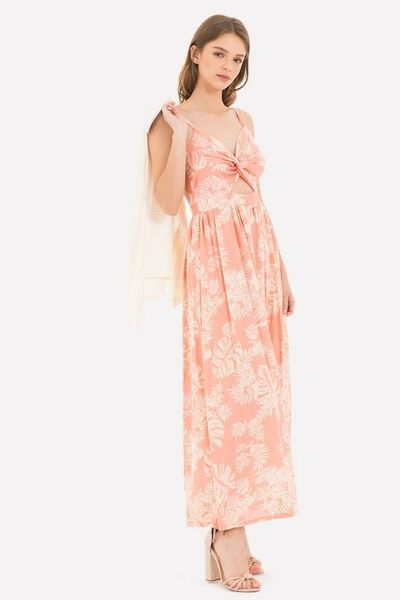 vestido nudo escote
