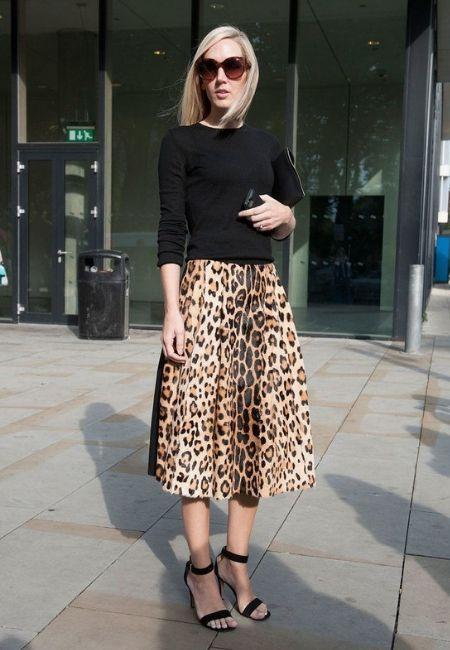faldas largas de leopardo