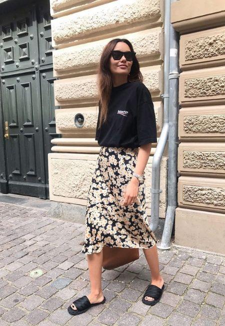 falda larga de verano